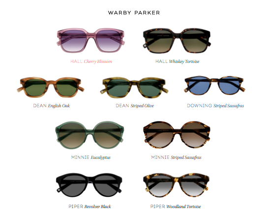 Warby Parker Spectrum Sunglasses